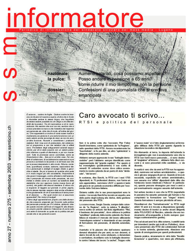 thumbnail of Informatore SSM 275