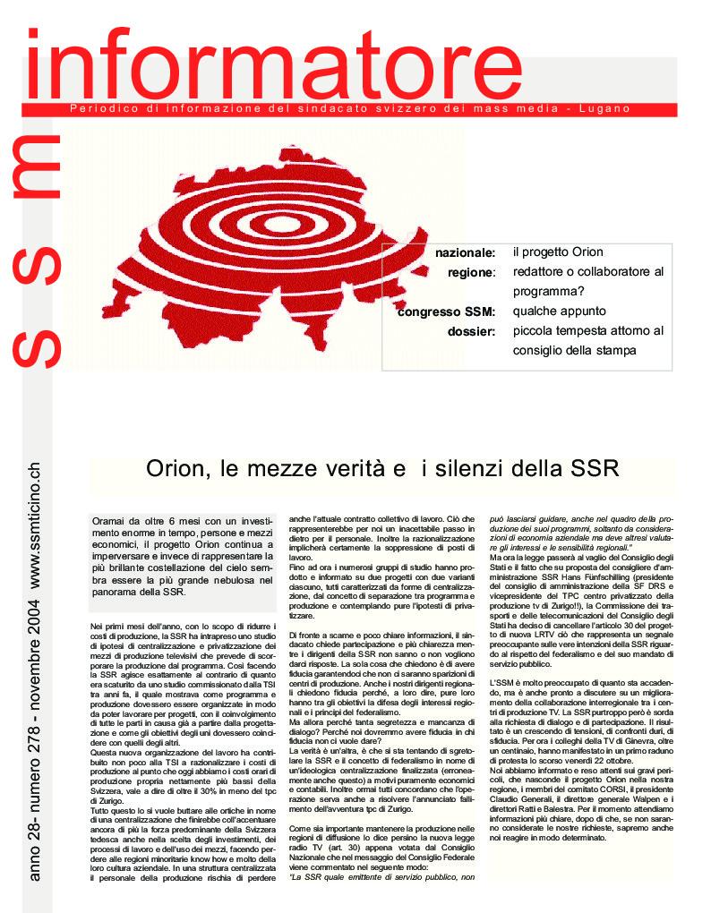 thumbnail of Informatore SSM 278