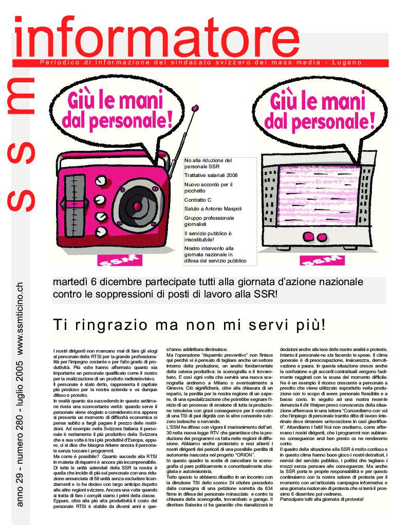 thumbnail of Informatore SSM 281