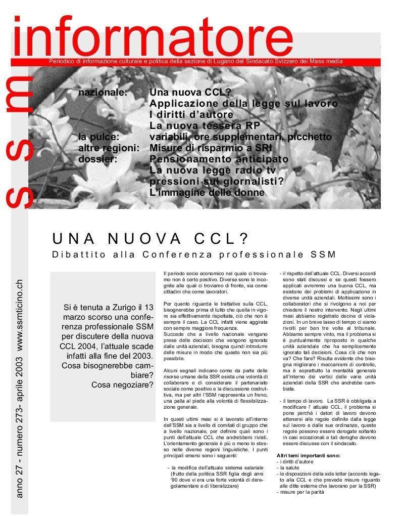 thumbnail of Informatore SSM 273