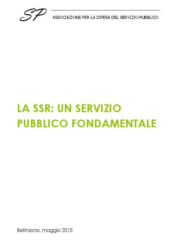 thumbnail of la SSR un servizio pubblico fondamentale