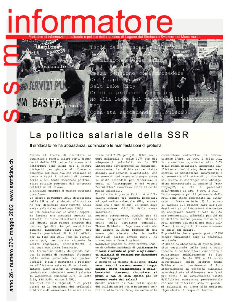 thumbnail of Informatore SSM 270