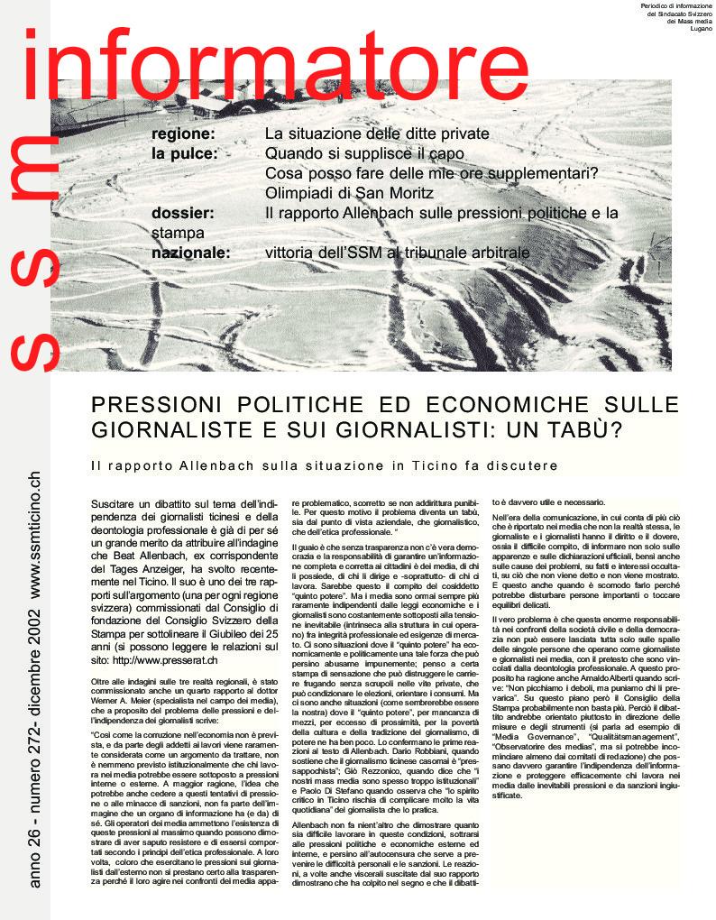 thumbnail of Informatore SSM 272