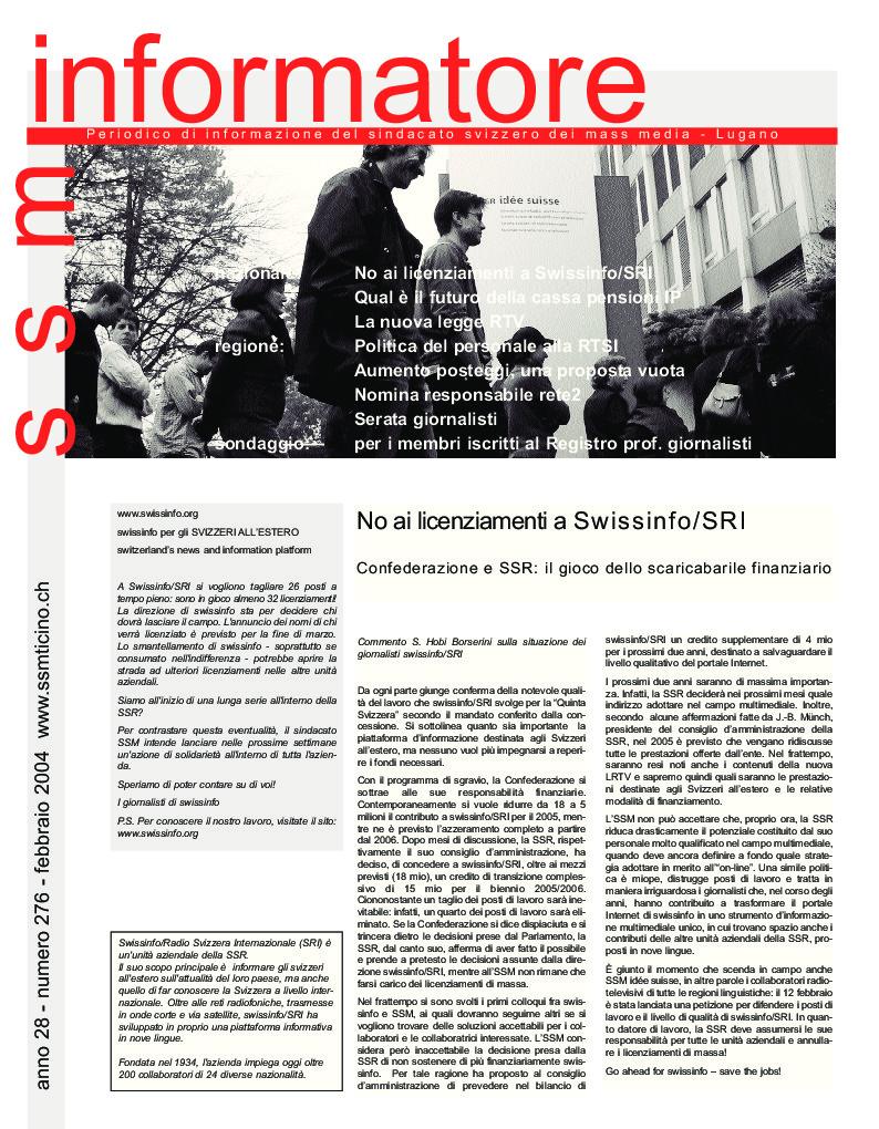 thumbnail of Informatore SSM 276