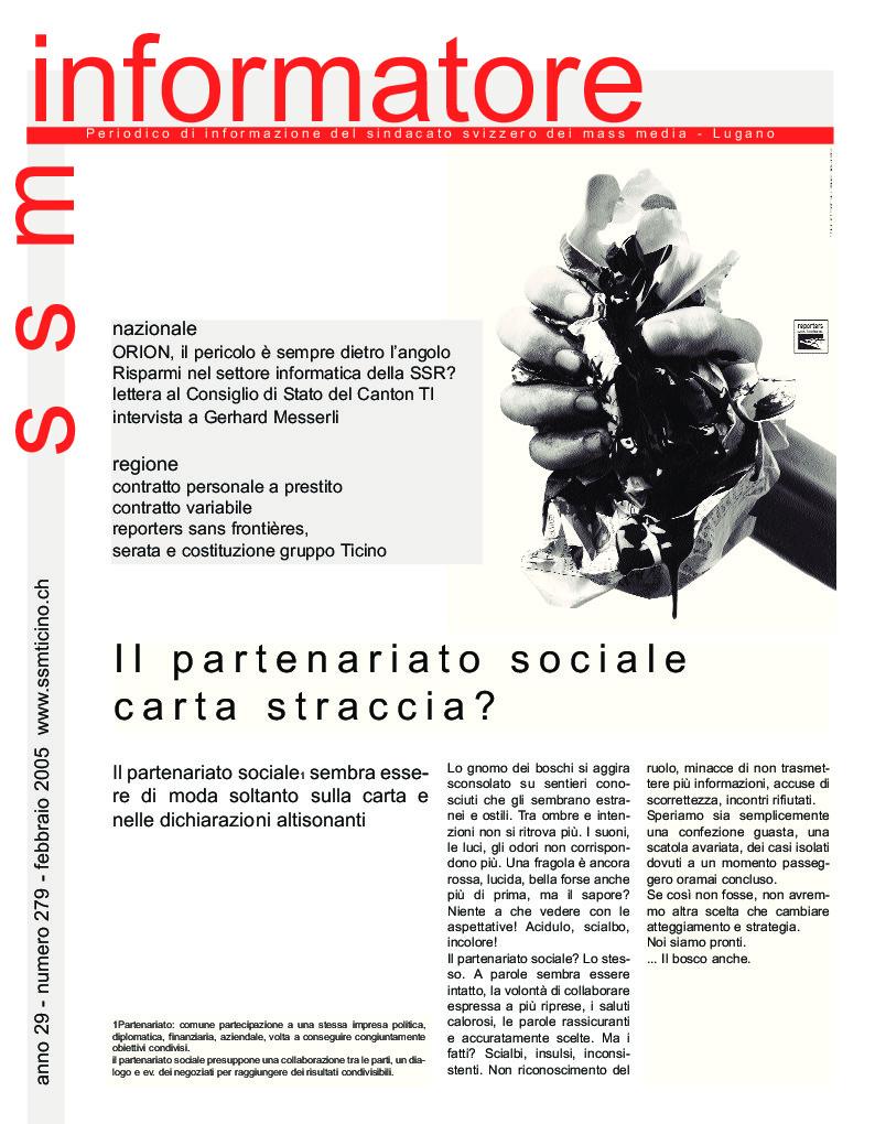 thumbnail of Informatore SSM 279